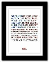 ❤ MGMT Of Moons, Birds ❤ song lyric typography art poster print - A1 A2 A3 or A4