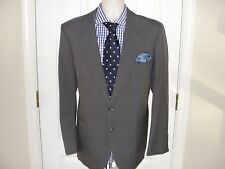 Yves Saint Laurent FRANCE Gray  Pinstripe Suit 42R Pants 36X30