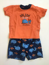 Carter's Baby Boy Swim Shorts and Shirt Set Size 12 Months Whale Fish