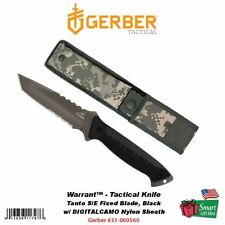 Gerber Warrant, Tanto S/E Fixed Blade Tactical Knife, Black, Sheath #31-000560