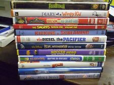 (13) Childrens Adventure DVD Lot: Disney Chuggington  Smurfs  Paranorman  Holes