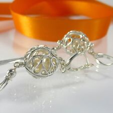 A280 Ohrringe Quasten Earrings 925 Silber Schmuck mit Swarovski Elements Perlen