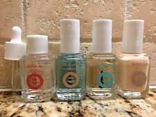 LOT OF 4 ESSIE QUICK-E, ALL IN ONE, FILL THE GAP, NO CHIPS AHEAD TOP COAT!
