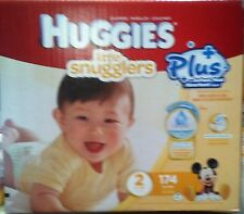 Huggies  LIttle snugglers  Nappies SIZE 2  - 174 Pack