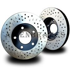 SUB011FD Impreza WRX 2002-2008 Brake Rotors 2 Front Cross Drill & Dimple Slots