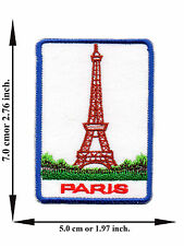 Paris France Eiffel Tower Travel City Nation V04 Applique Iron on Patch Sew