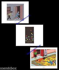 Lot 3 Ex-libris TINTIN Le LOTUS BLEU affiche Hergé triptyque Tchang figurines BD