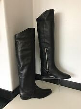 All saints rare 100% noir lambs leather over knee high boots 38 uk 5 £ 275