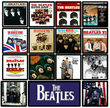 BEATLES 15 pack U.S. album cover discography magnet lot - john paul george ringo
