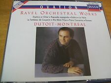RAVEL ORCHESTRAL WORKS DUTOIT MONTREAL BOX 4 CD DECCA FIRST EDITION RARISSIMA