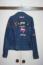 Lee VTG Denim Jean Jacket Men 46 Long Jeep Pontiac Army Yamaha MN USA Chevy Hip