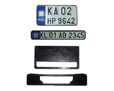 Bike IND number plates (color - blue) Front and Back  with Frames