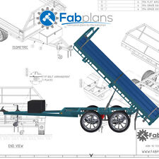 10'x7' Tipper Trailer plans - Build your own tandem axle dump trailer - A4