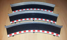 Scalextric Classic/Sport C8228 Black Curve Outer Borders x3 In Good Condition