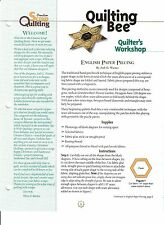 Creative Scrap Quilting Pattern - English Paper Piecing Pattern