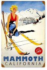 SKI MAMMOTH CALIFORNIA METAL SIGN Snowboard Sports NEW Vintage Repro Retro USA