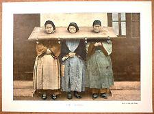 CHINE Supplice de la cangue - Photochromie fin 19ème  gravure