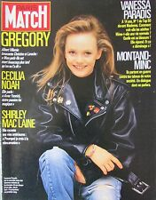 PARIS MATCH de 1987 VANESSA PARADIS AFFAIRE GREGORY DRUCKER REVOLTE MOINES TIBET