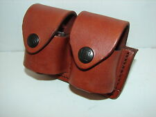 Large Double Brown Speed Loader Pouch to fit 6 rd .44/.45 & 7 rd 38/.357 SP.