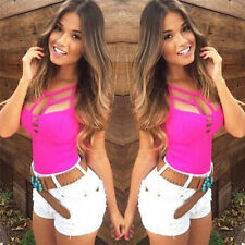 New Sexy Women's Summer Vest Top Sleeveless Blouse Casual Tank Tops T Shirt