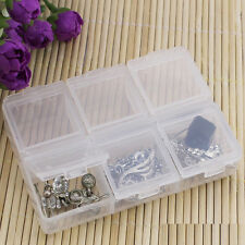 6 Grids Cells Storage Case Box Holder Organizer for Nail Art Tips Gems Glitters
