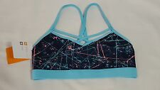 New Womens Blue Paint Splat Champion Duo Dry Athletic Stretch Sports Bra Size XS