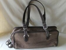 The Sak Tan/Taupe Crochet Knit Handbag Purse Double Handles    EUC!