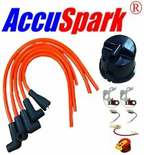 Lotus Elan Points Condenser Red Rotor HT Leads service kit For Lucas 25D