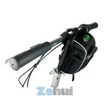 Bike Bicycle Cycling Front Basket Pannier Frame Tube Handlebar Bag W/Rain Cover