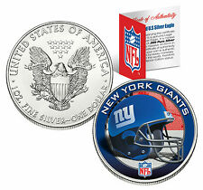 NEW YORK GIANTS 1 Oz .999 Fine Silver American Eagle $1 US Coin NFL LICENSED