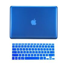 "2in1 ROYAL BLUE Crystal Case for Macbook Pro 13"" A1425 Retina display+Key Cover"