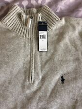 Polo by Ralph Lauren Light Grey Zip Sweater B&T Sz LT-NWT-$125
