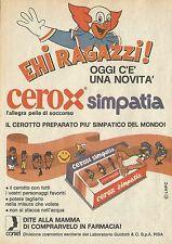X4678 Cerox simpatia - Cerotto con i personaggi favoriti - Pubblicità 1975 - Adv