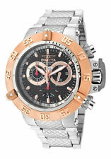 New Men's Invicta 10192 Subaqua Swiss Chrono Black Textured Dial Steel Watch
