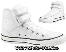 Womens Mens Boys CONVERSE All Star 2 STRAP HI TOP WHITE Trainers Boots UK SIZE 5