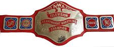 NWA Television Championship Replica Title Belt - Brass Metal Plates - 5 Platted