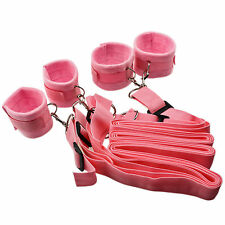 Under Bed Hand Cuff System Restraint Fetish Bondage Pink Strap Kit Sex Toy Game
