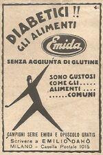 W2338 Alimenti EMIDA senza glutine - Pubblicità del 1930 - Vintage advertising