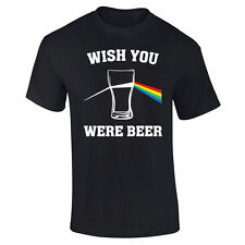 Mens Wish You Were Beer Pink Floyd Parody Funny T-shirt S-XXL