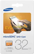 Samsung EVO 32GB microSDHC micro SD SDHC for GALAXY S5 S4 S7 Class 10 Retail Pkg