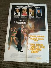 The Man With The Golden Gun 1974 Original 1 Sheet Movie Poster Rare Style B