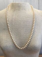 "30"" Talbots Gold Tone Single Strand Faux Pearl Necklace"