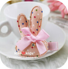 1PC Kids Baby Girls Children Cute Pink Bunny Rabbit Ear Bow Hair Clip Pin Prop