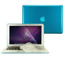 "3 in1 Crystal AQUA BLUE Case  for Macbook Air 13"" A1369 + Key Cover + LCD Screen"