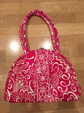 Vera Bradley Eloise Pink Purse Shoulder Bag Kisslock Magnetic Retail  $75