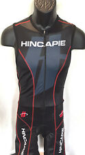 Hincapie Men's Small Fluid Plus Tri Skinsuit Black/Red Aero Triathlon Gear!! New