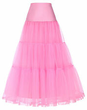 Retro Long Tulle Petticoat Crinoline Costume Underskirt For Bridal Wedding Dress
