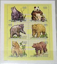 GUINEA 2001 Klb 3022-27 1894 Bears Bären Bear Tiere Animals Fauna Nature MNH