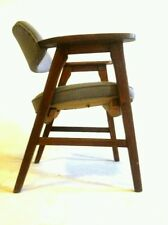 Vintage Gunlocke Mid Century Danish Clam Chair Office Cantilever Atomic Dining
