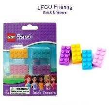 LEGO Friends Brick Erasers School Kids [4 Pack] Party Favor Pastel